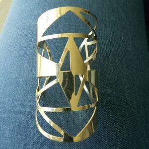 Geometric cut cuff bracelet